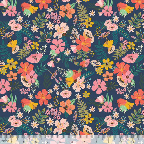 Jungle Mania, floral animal panel, blend fabrics, available from Purple Stitches, Hampshire, UK