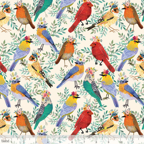 Birdie Collection, Blend fabircs, Floral Pets, available from Purple Stitches, Hampshire, UK