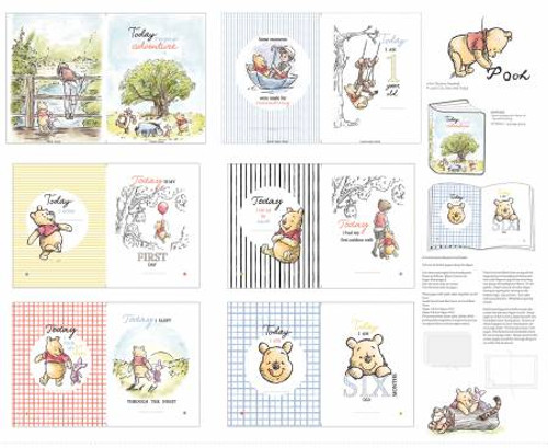 Pooh And Friends soft book panel - Springs Creative Products, available from Purple Stitches, Hampshire, UK