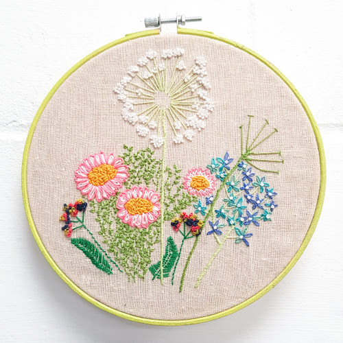 Hand embroidery with Ruth Nelson-White at Purple Stitches, North Hampshire, UK