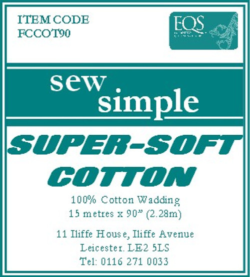Sew Simple 100% Cotton Super Soft wadding