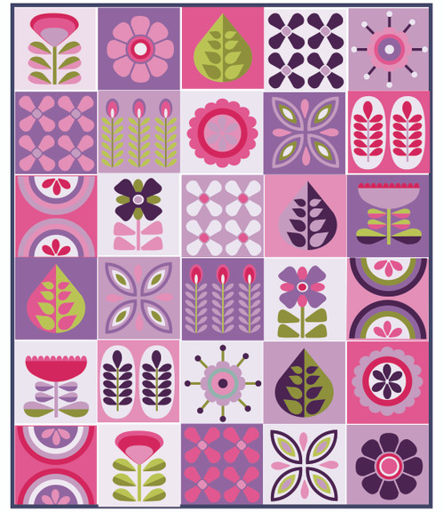 PRESALE Blooma Quilt Fabric Pack - Yasmeen Branston, available from Purple Stitches, Hampshire UK