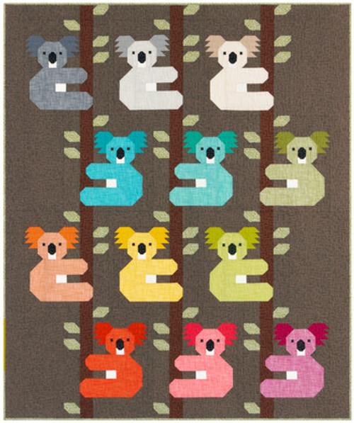 Koala Quilt Kit - Elizabeth Hartman, available from Purple Stitches, Hampshire UK