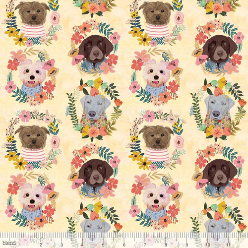 Floral Pets, blend fabrics, available from Purple Stitches, Hampshire, UK