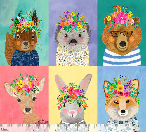 Forest Friends, blend fabrics, available from Purple Stitches, Hampshire, UK