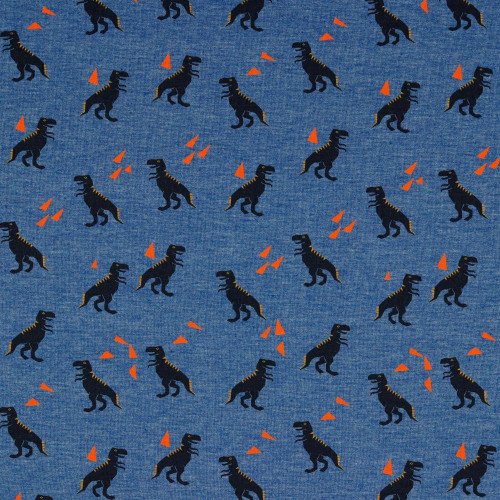 dinosaur Cotton jersey knit, dressmaking fabric, Available from Purple Stitches, Hampshire UK