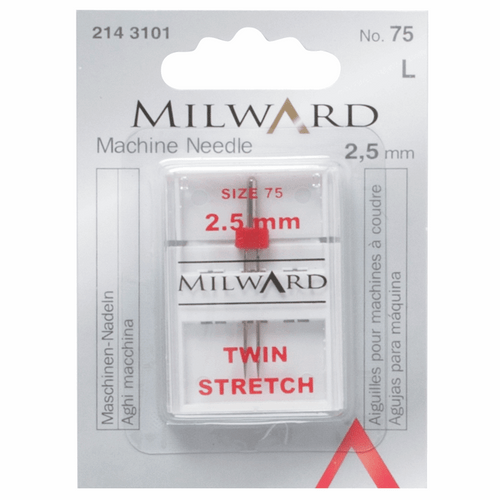 Stretch Machine needles designed for two way stretch knits, lycra, silk, jersey and other highly elasticised synthetic fabric, available from Purple Stitches, Hampshire UK