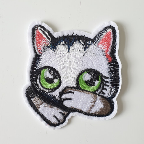 Iron-on patches, for decorative use / visible mending.  Available from Purple Stitches, Hampshire UK