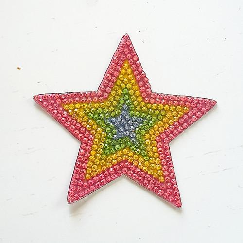 Rainbow Star - Iron On / Sew on Patches