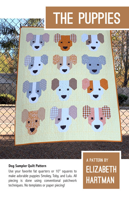 The Puppies Pattern,  Elizabeth Hartman, Available from Purple Stitches UK