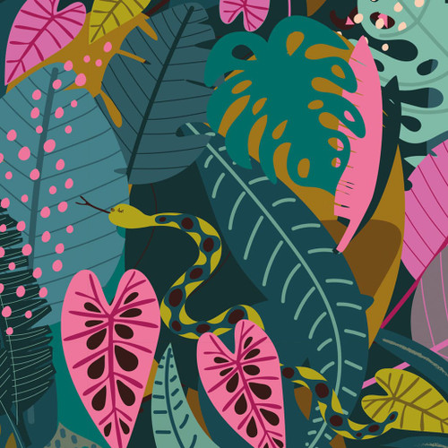 Night Jungle, Dashwood Studio, 100% Cotton, available from Purple Stitches, Hampshire UK