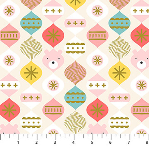 Polar Magic, Christmas Fabric, Figo Fabrics, available from Purple Stitches, Hampshire UK