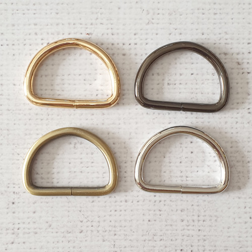 """ONE pair 1.5"""" / 38mm thick metal alloy D rings"""