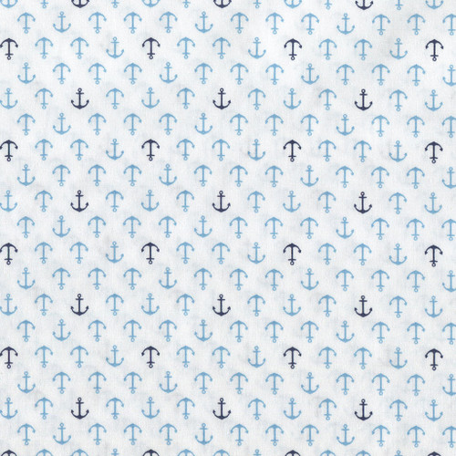 Anchor print, Novelty Sevenberry Japanese Cotton, from Purple Stitches UK