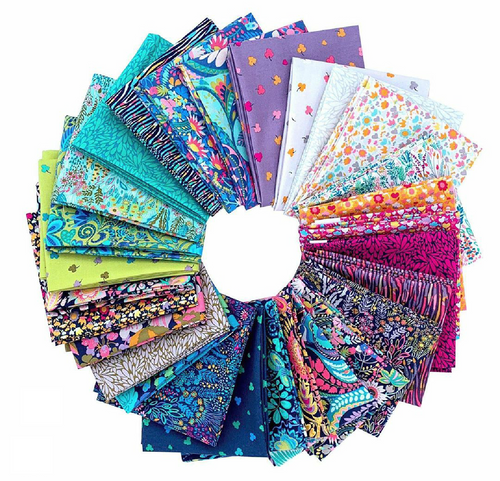 Solstice Fat quarter by bundle by Sally Kelly, available from Purple Stitches, Hampshire, UK