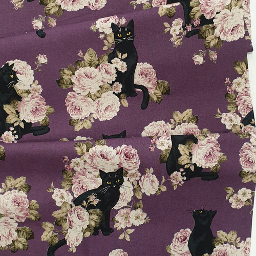 Cats on Canvas, Japanese Canvas, Available from Purple Stitches, Hampshire, UK