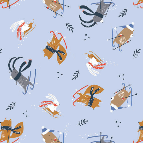 Snow Much Fun, Sarah Knight, Dashwood Studio fabrics, available from Purple Stitches, Hampshire, UK