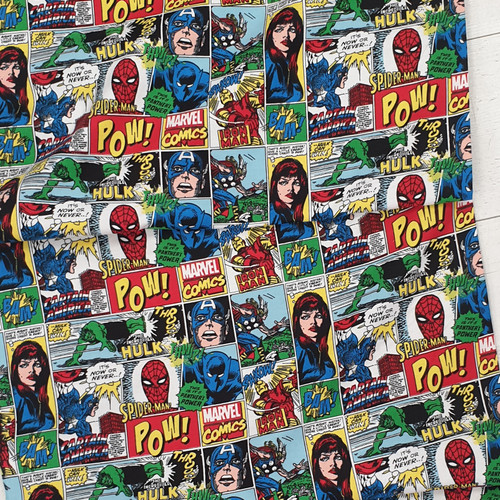 Marvel flannel Fabrics, by Spring Creative, available from Purple Stitches, Hampshire, UK