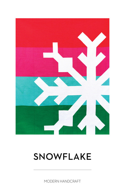 Snowflake, modern handcraft paper quilt pattern, available from Purple Stitches, Basingstoke, Hampshire UK