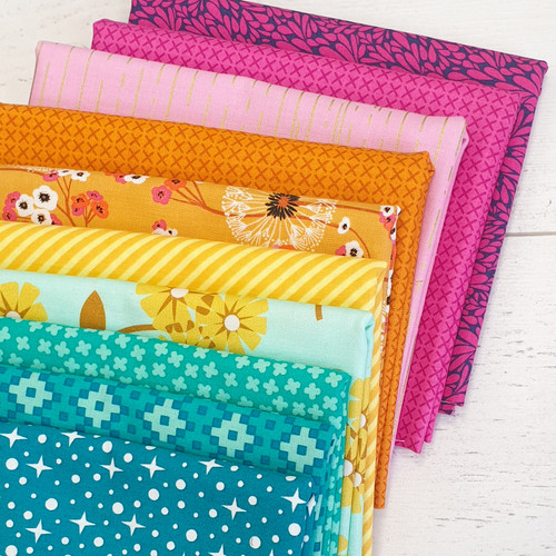 Jewel bundle, 10 fat quarters, available from Purple Stitches, Hampshire UK