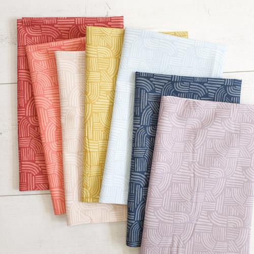 Linea Texture Bundle, 7 fat quarters, available from Purple Stitches, Hampshire UK