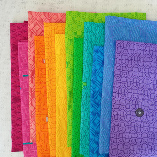 Favorite Things Fat Quarter Bundle -  Bright - Shayla Wolf - Windham Fabrics