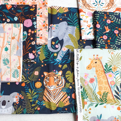 Our Planet Bundle, 6 fat quarters, available from Purple Stitches, Hampshire UK