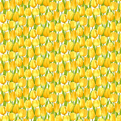 Summer Garden,  Modern floral fabric by Makower, Available from Purple Stitches, Hampshire UK.