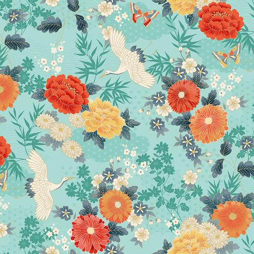 Michiko, Modern Japanese fabric by Makower, Available from Purple Stitches, Hampshire UK.