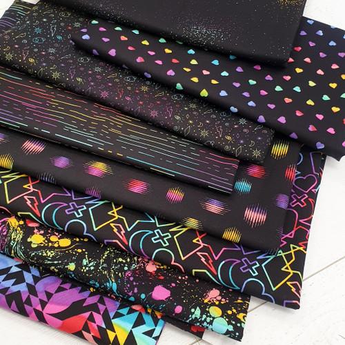 Beguiled black Fat Quarter Bundle - Libs Elliott - Andover Fabrics