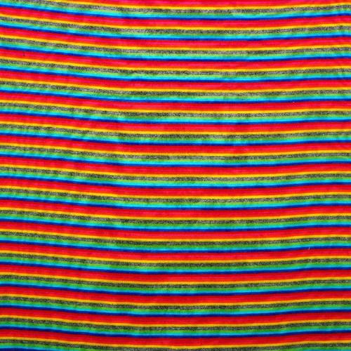 Rainbow Cotton Jersey Rib Tubular knit, dressmaking fabric, Available from Purple Stitches, Hampshire UK