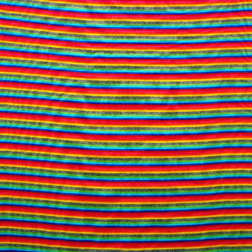 Rainbow stripes cotton Jersey knit, dressmaking fabric, Available from Purple Stitches, Hampshire UK
