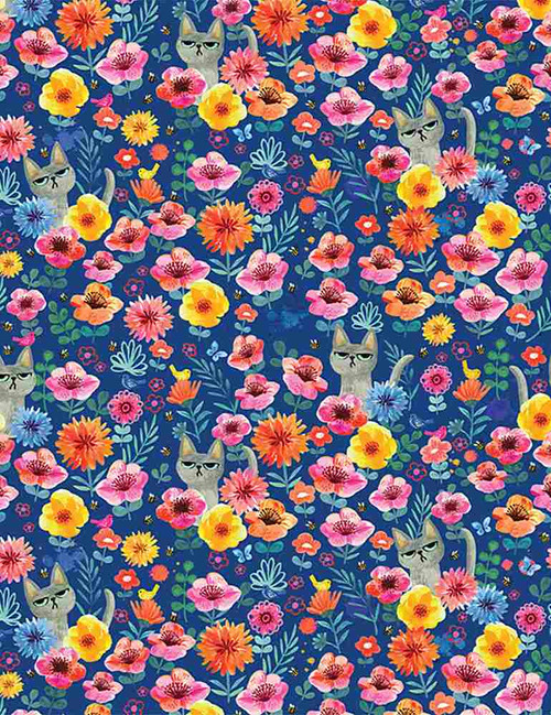 Catitute,  Dear Stella Fabric, available from Purple Stitches, Hampshire, UK