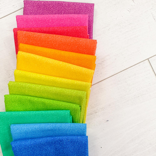 Phosphor Full Fat Quarter Bundle - Rainbow - 12 Fat Quarters.