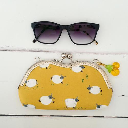 Stylish Glasses Case Pattern using sew-in frames, Purple Stitches, Hampshire UK