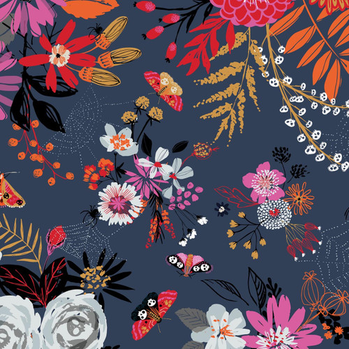 Full Moon, spooky halloween collection, halloween fabric, Dashwood Studio, available from Purple Stitches , Hampshire, UK