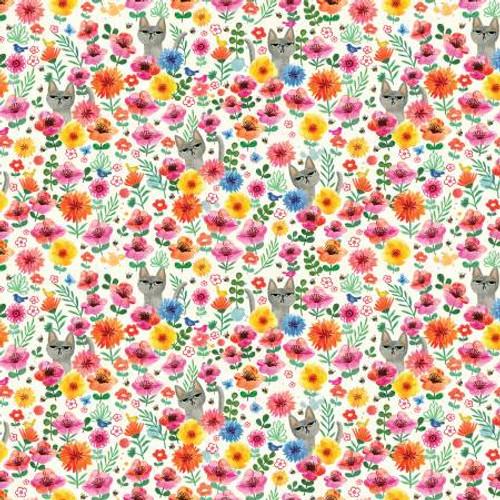 Cranky Cat Cream - Catitude - Dear Stella Fabrics