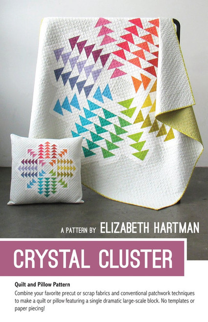 Crystal Cluster printed quilt pattern by Elizabeth Hartman. Available at Purple Stitches in UK