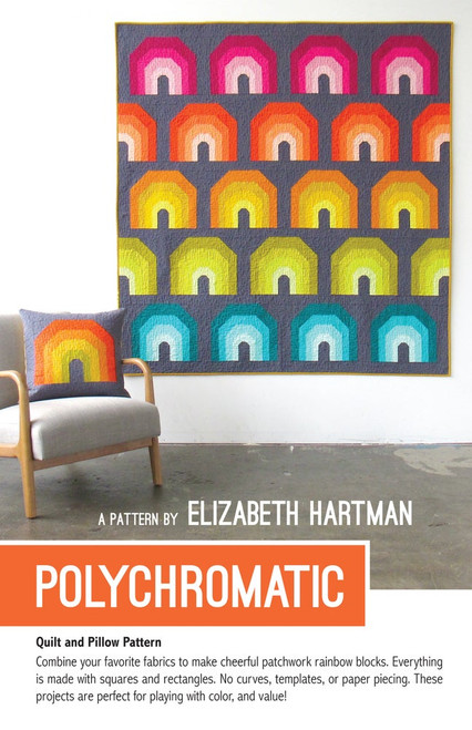 Polychromatic printed quilt pattern by Elizabeth Hartman. Available at Purple Stitches in UK
