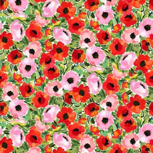 Poppy Field fabric, dear Stella, Available from Purple Stitches, Hampshire, UK