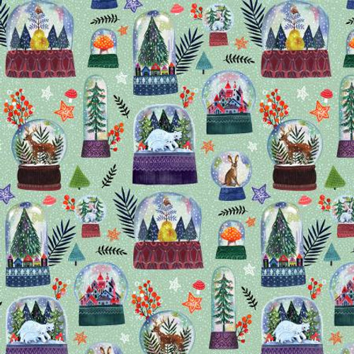 Snow globes, christmas snow gloves,  Dear Stella Fabric, available from Purple Stitches, Hampshire, UK
