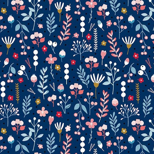Mountain Floral Andover fabrics, available from Purple Stitches , Hampshire, UK