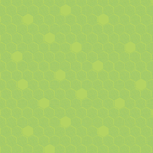 Chartreuse Green Hexagon - Great British Quilter , Dashwood Studio, available from purple Stitches, Hampshire UK