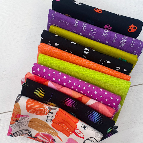 Halloween Bundle, 10 fat quarters, available from Purple Stitches, Hampshire UK