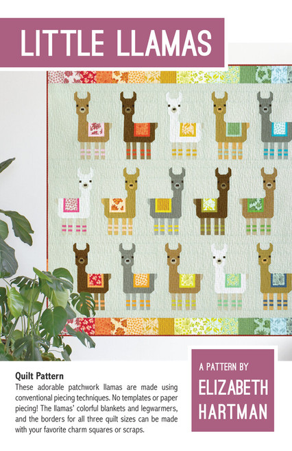 Little Llama quilt pattern, Elizabeth Hartman, Paper Copy, available from Purple Stitches, Hampshire, UK