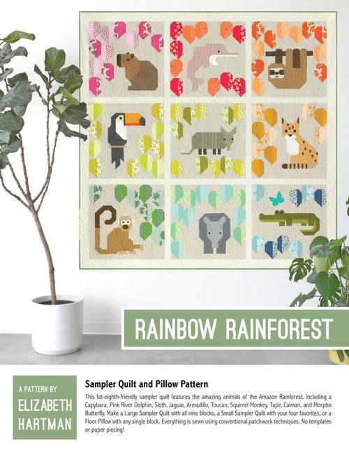 Rainbow Rainforest quilt pattern, Elizabeth Hartman, Paper Copy, available from Purple Stitches, Hampshire, UK