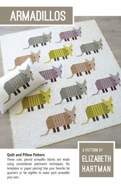 Armadillo quilt pattern, Elizabeth Hartman, Paper Copy, available from Purple Stitches, Hampshire, UK