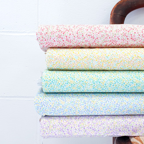 Japanese Floral Bundle 5 fat quarters, available from Purple Stitches, Hampshire UK