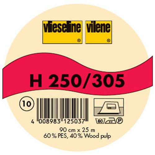 Vilene H250/305 Iron-On Interfacing Standard - White