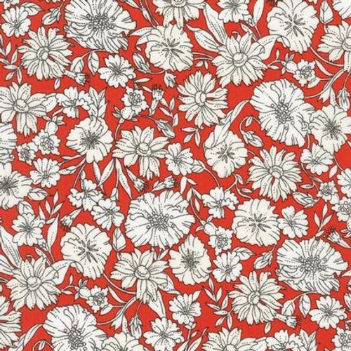 London Calling Floral - Poppy